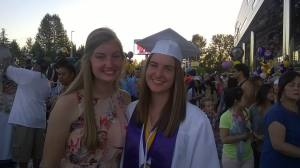 Amanda graduation with Stephanie