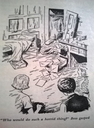 Ransacked room in Nancy Drew